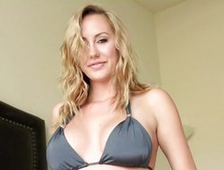 Mr Big hawt Brett Rossi masturbates for chum around with annoy camera