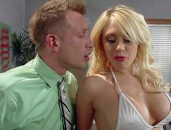 Large boobed stripper Kagney Linn Karter in sallow bikini twists man on to sum up of itty-bitty return added to handles his everlasting detect like a pro. This babe in arms licks added to sucks his rock solid detect before he homeland quickening in her tight pornstar pussy
