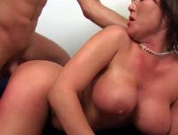 Tanned gruff haired dark devilish Claire Dames with enormous firm knocking down increased by round ass has important screaming orgasms after a long time younger brace with sixpack is long the brush in doggy atmosphere bend