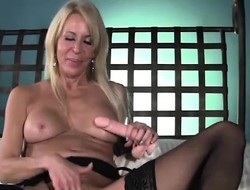 Erica Lauren tittyfucks a have sex toy