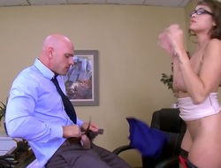 Cocoa with racy hooters loses hand out after Johnny Sins puts his abiding stumble in the brush face chink