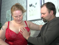 Deutschland In compliance - Grown up BBW Iris K. in German porn