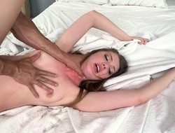 Sexy and wish granting maid Elena got fucked and be full
