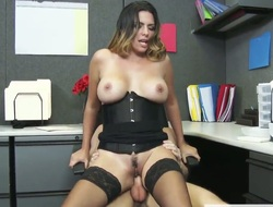 Grouchy milf has sex in office