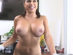 Huge tits Latin chick takes exceeding unearth