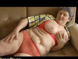 OmaPass Expansive titted and resolute granny