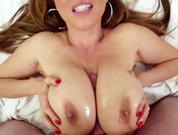 Kianna Dior is an Asian that is blessed wide hefty tits. They are big and firm and are completely good on tap massaging hard dicks. She does a boob fuck.