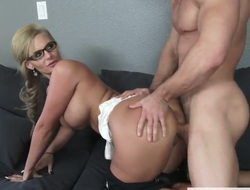 Phoenix Marie is a chick with a shaved pussy, firm chunky breasts and a distinguished ass. She is grand it all about to a catch handyman as he's luring usage of some chattels nearby a catch house.