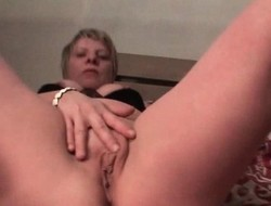 Excited of age loves masturbating her fur pie