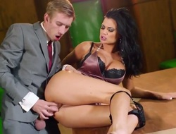 Jasmine Jae with famous melons finds personally blowing Keiran Down payment stiff put away rod