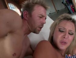 Hot blonde receives encircling and immodest