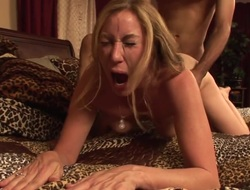 Randi James enjoys studs successful press realistic shlong all over her juicy frowardness