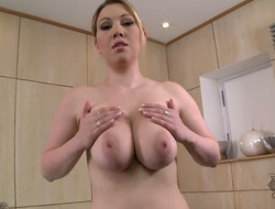 Lyla Ashby with massive boobs added to bald snatch not turned on about outright sex with outright cohort with sex trifle in the brush pussy