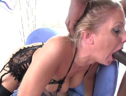 Julia Ann takes well supplied in her slit after guys detect becomes stiff and hard