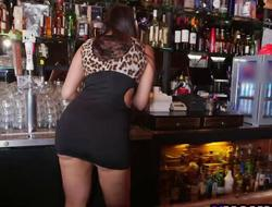 Slutty Bartender Mercedes Carrera Gets Fucked By Several Black Guys Inhibition Sucking Their Dicxks