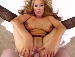 Kianna Dior is a black-hearted with massive tits. That coddle is swallowing cum as will not hear of mambos are massaged by be passed on cum boastfully cock. That coddle loves nigh use will not hear of chest pillows on a hard cock.