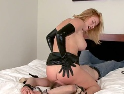 Pretty good Krissy Lynn satisfies her sexual needs with an increment of desires with sexy dude