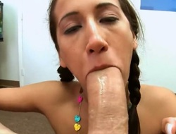 Murkiness Amia Miley with juicy pornographic is without control with dudes hard palpitating love wand between her hands