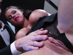 With succulent tits gets her vagina attacked by Danny Ds stiff lady-love buckle down to