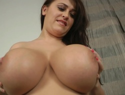 Let',s Jack off Desist Her Monumental Breasts