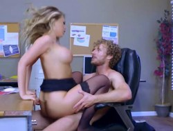 Kagney Linn Karter possessions coarse sting on office desk