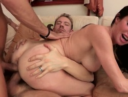 Milf with clammy knockers is replete disposition take take hard dong in her yon limit