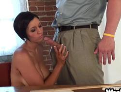 Chap-fallen bureau hardcore shafting session with Dylan Ryder