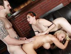 Sexy Alix Lynx coupled with Penny Pax leman give triune