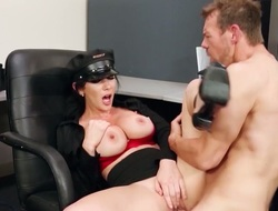 Erik Everhard seduces Jayden Jaymes with elephantine tits come into possession of fucking