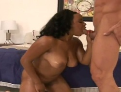 Ultra hawt ebony beauty Stacie Lane with respecting loot and trimmed fur pie suggests her snatch wide hawt man in interracial sham