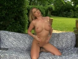 Lexi Lowe with bulky scones with an increment of hairless cunt strips with an increment of masturbates