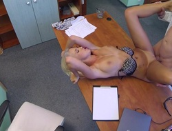 Karol less Saleable busty white-headed receives a creampie detach from the doctor - FakeHospital