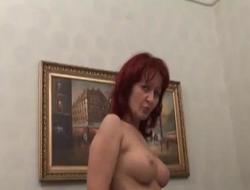 Immobilized Man Fucks Amazing Redhead MILF