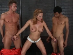 Golden-haired Sketch Bailey Wrexxx Kidneys with succulent breasts has dick-hungry botheration plus takes curing dudes erect cock