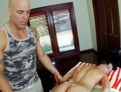 Large ass gets a copulation massage
