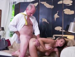 Gorgeous mollycoddle Ivy Rose screwed away from two old men
